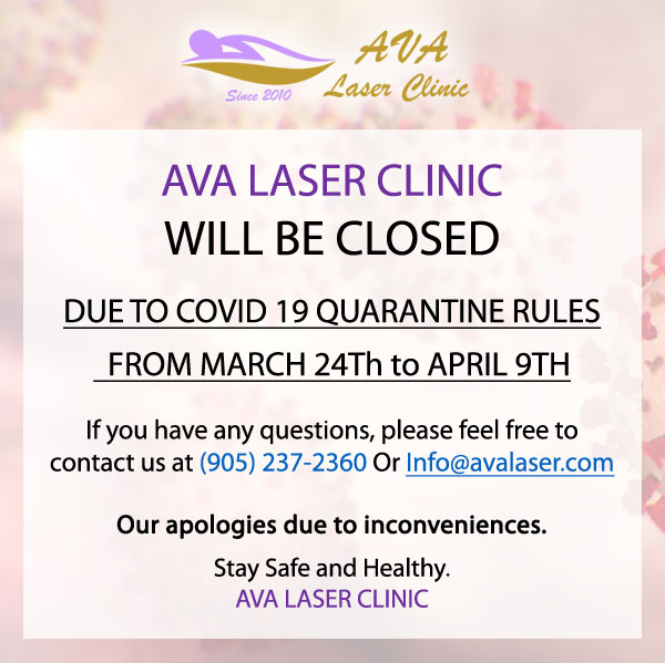 Ava Laser Clinic Coronavirus Closed Banner
