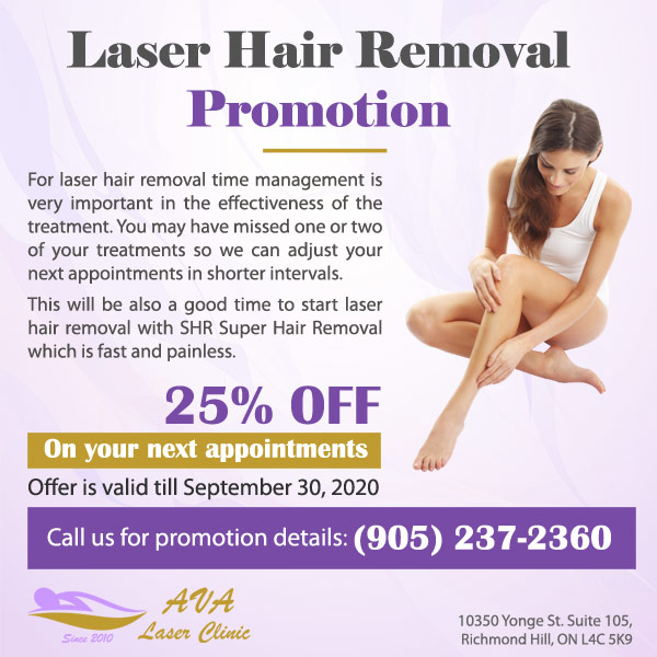 Ava Laser Clinic Covid 19 Laser Hair Removal Promotion